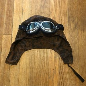 Halloween - Aviator Hat With Glasses - One Size